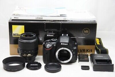 Nikon D5100 16.2 MP Digital SLR Camera Black Body w/ AF-S DX 18-55mm VR #200207n
