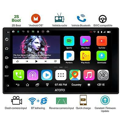 ATOTO Android 2Din car stereo autoradio A6Y2721P Bluetooth x2/Phone Charge &more