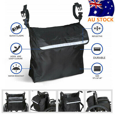Large Wheelchair Storage Bag Fits Most Scooters, Walkers,Electric Wheelchairs AU