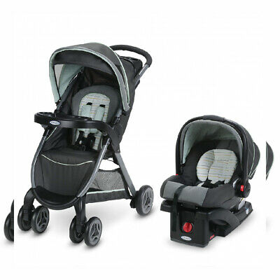 Graco FastAction Fold Travel System | Includes Bennett