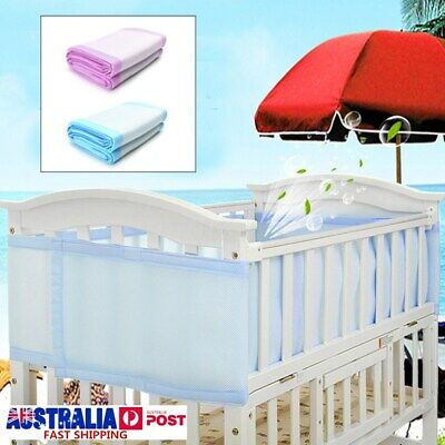 2x Baby Bumpers Cot Crib Air Mesh Pad Breathable Summer Safety Protector Kids
