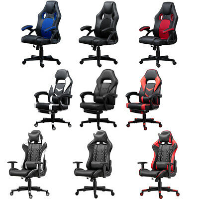 Swivel Office/Gaming Chairs with Footrest Lumbar Support Headrest Racing Chairs