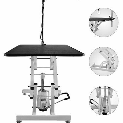 "42.5""x23.6'' Z-Lift Hydraulic Pet Dog Grooming Table Adjustable W/Arm& Noose"