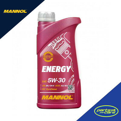 Mannol Energy 5W30 Zetec Fully Synthetic Engine Oil Sl/Cf Acea A3/B3 (1-20L)