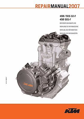 KTM Engine Service Workshop Shop Repair Manual Book 2007 450 SX-F