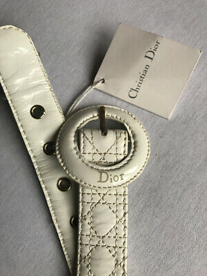 Christian Dior Girls Leather Belt Size 8 Years BNWT