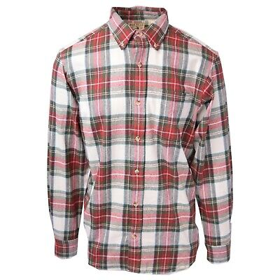 Red Head Brand Co. Men's Red Cream L/S Woven Shirt