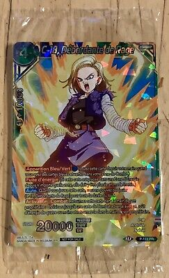 Carte Dragon Ball Super Card C-18 Débordante De Rage PR 172 Promo Foil DBS