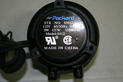 9 Watt Condenser Fan Motor, 115V, Ccw Rotation, 1550 Rpm, 1/4'' Threaded Shaft