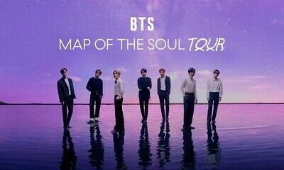 BTS: Map of the Soul Tour - Cotton Bowl Stadium May 10, 2020 Section 16 Row 43