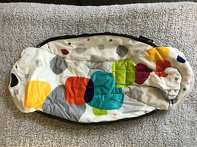 4Moms mamaRoo Infant Baby Swing Seat Fabric Replacement Multi-color Square Plush