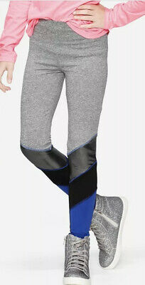 Justice Color Block Leggings - Imperial Blue Size 12 High waist NWT