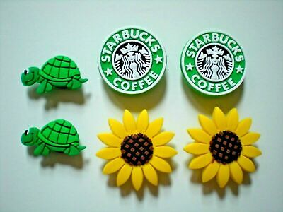 Garden Shoe Charm Button Turtle Compatible w/Crocs Hole Fits Jibbitz Wristband