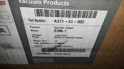 Edwards E2M0.7 Two Stage Rotary Vane Pump New