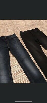 Two Pairs Next Boys Skinny Jeans Age 11 Worn Once