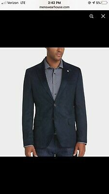 $700 Nautica Men's 40R Blue Modern Fit 2 Button Suit Jacket Blazer Sport Coat