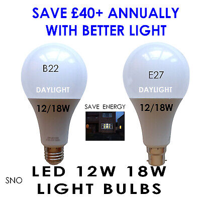 12W 18W Led Light Bulb £2.99 Daylight Guarantee 2 Years Suitable Reading Artist