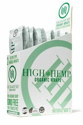 High Hemp Organic Wrap 25 Pouch in Full Box 2 in a Pouch 50 Wraps! FREE SHIPPING