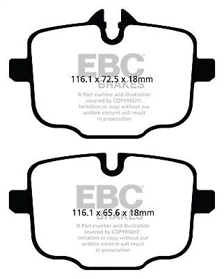 EBC Brakes DP31854C EBC Redstuff Ceramic Low Dust Brake Pads Fits 09-15 Cooper