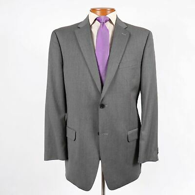 Tommy Hilfiger Mens 44L Gray Wool 2 Button Blazer Suit Jacket Side Vents 574