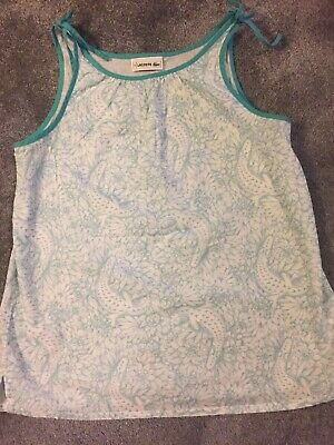 Lacoste Age 14 Girls Stunning Cotton Vest Worn Once