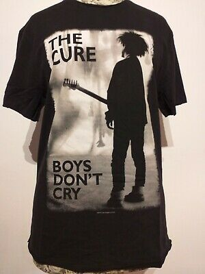 Cure Guitar Silhouette Boys Don/'t Cry Black T Shirt New Official Band