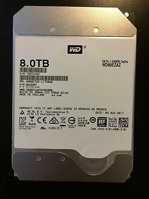 "WD 8TB RED SATA  3.5"" SATA III Internal NAS Hard Drive 256mb WD80EZAZ"