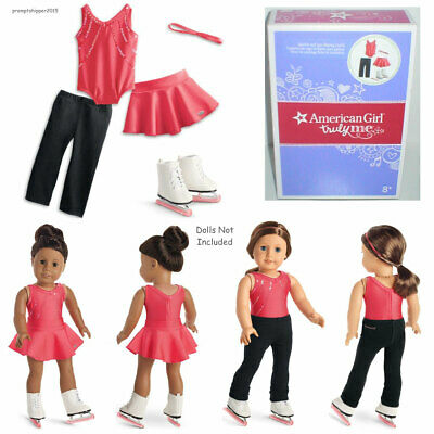 """NEW American Girl Truly Me SPARKLE & SPIN SKATING OUTFIT for 18"""" Dolls & Mia NIB"""