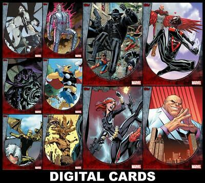 Topps Marvel Collect BOUNDLESS Series 2 [10 CARD SET] Black Widow/Spider-Man+++