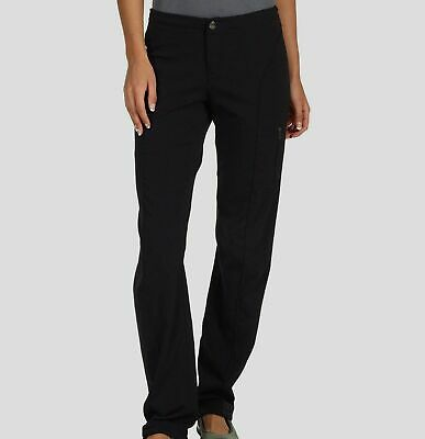 New $278 Columbia Women's Black Straight-Leg Stretch Outdoor Hiking Pants Size 4