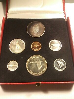 Canada Rcm Centennial Proof-Like Silver 6+1 Coin Set 1967 (In Red Box) Km Pl18A