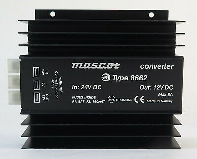 Mascot Type 8662 Converter 24V DC in 12V DC out