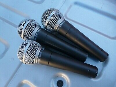 Shure SM-58, SM58, THE Classic Microphone, must-have, 3 available