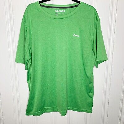 Reebok Size XL Mens Green Play Dry Fit Shirt Short Sleeve Polyester