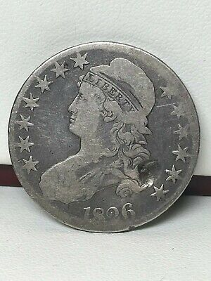 1826 Capped Bust Silver Half Dollar - Damaged !