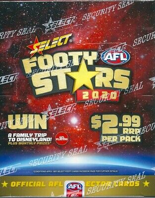 2020 afl footy stars trading cards box pre-order item  due out 28th feb