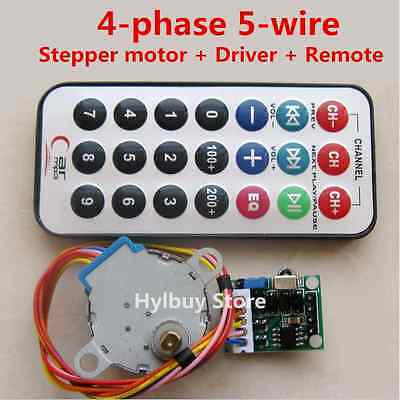 DC 5V 4-phase 5-wire Stepper Motor+Driver Board+Remote Control Wireless