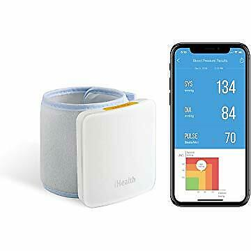 iHealth Sense Fully Automatic Wrist Smart Blood Pressure Cuff Monitor for iOS...