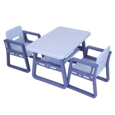 Childrens Kids HDPE Table and Chairs Nursery Garden Sets Outdoor Study Table