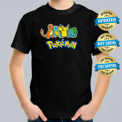Pokemon Original Four Kids T-Shirt Size 0-16L Retro Cartoon Comic T Shirt