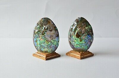 Lovely Vintage Paua Shell Salt And Pepper Shakers