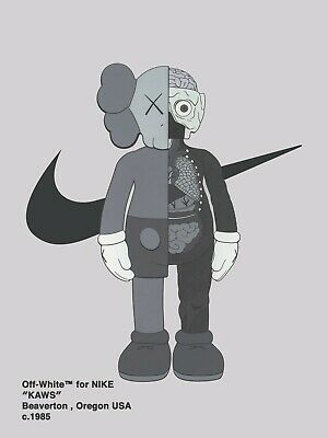 Kaws Nike Off White Hypebeast Wall Art - Premium Luster Photo Paper