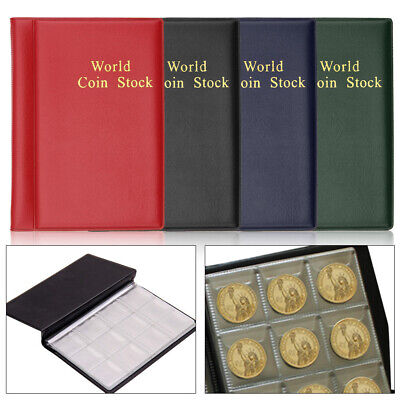 120 Coin Collection Album Penny Money Storage Book Case Folder Holder Collecting
