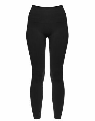 SPANX Look At Me Now Seamless Leggings Colour Very Black Size Large UK 14/16