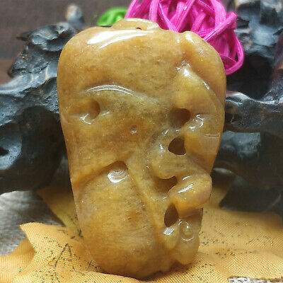 AAAAA Chinese Hand-carved aristocratic wearing Jadeite jade pendant(jade corn)