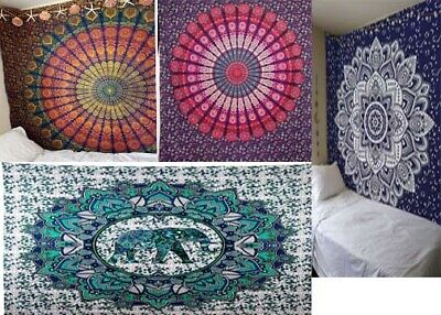 cm 208 x 223 Indian Hippie Mandala Handmade Bohemian Hanging Tapestry Queen Size