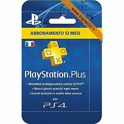 PlayStation Plus (PSN) Abbonamento 12 Mesi - PlayStation 4