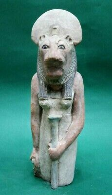 ANCIENT EGYPTIAN ANTIQUES Rare Statue Of GODDESS SEKHMET Limestone 1403-1365 BC