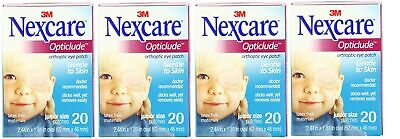 """3M 1537 Nexcare Opticlude Orthoptic Eye Patch Junior 2.44""""x1.8"""" (4 Boxes of 20)"""