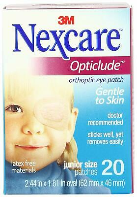 """3M 1537 Nexcare Opticlude Orthoptic Eye Patch Junior 2.44""""x1.8"""" (6 Boxes of 20)"""